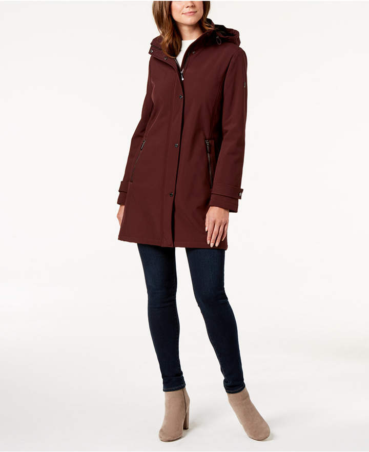 Petite Hooded A-Line Coat