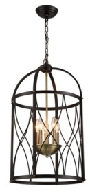 """Home Accessories Darshan 17"""" 5-Light Indoor Pendant Lamp with Light Kit"""