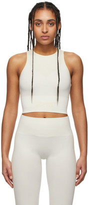 Reebok x Victoria Beckham Off-White and Beige Seamless Cropped Tank Top