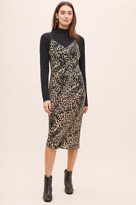 Bl Nk Bl-nk Arineva Leopard-Print Bias Slip Dress