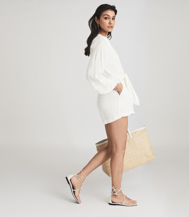 Thumbnail for your product : Reiss Rose - Wide Sleeve Playsuit in White