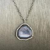 Rocks With Soul Geode And Diamond Pendant Necklace