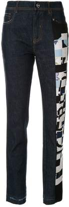 Iceberg abstract printed jeans
