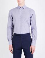 Ralph Lauren Purple Label Aston Prince of Wales check regular-fit cotton shirt