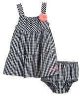 Calvin Klein Baby Girls Gingham Dress and Bloomers Set