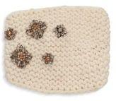 Jennifer Behr Snowdrop Crystal-Embellished Wool Kerchief