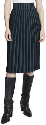 Kenzo High-Rise Pleated Midi Skirt
