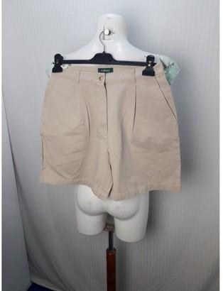 Lauren Ralph Lauren Beige Cotton Shorts for Women