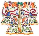 Dolce & Gabbana Majolica printed cotton top