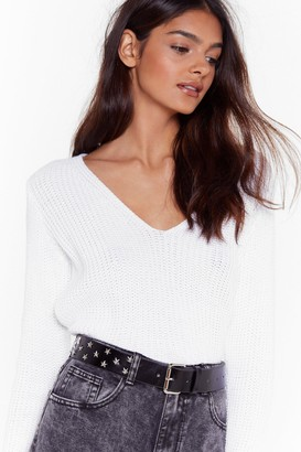 Nasty Gal Womens A Star Cry Faux Leather Belt - Black - One Size