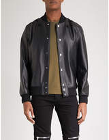 Givenchy Star-embroidered Leather Bomber Jacket
