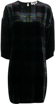 YMC Checked Velvet Dress