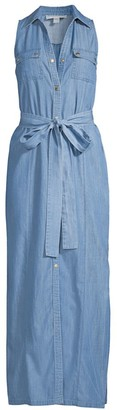 MICHAEL Michael Kors Chambray Maxi Shirtdress