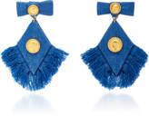 Caroline Constas Denim Fringed Diamond Earrings