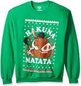 Disney Men's Lion King Hakuna Matata Christmas Ugly Christmas Sweatshirt