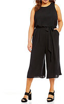Vince Camuto Plus Sleeveless Wide Leg Cropped Jumpsuit