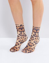 Monki Leopard Print Socks