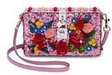 Dolce & Gabbana Floral-Embellished Sequined Shoulder Bag
