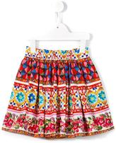 Dolce & Gabbana Mambo print skirt - kids - Cotton - 36 mth