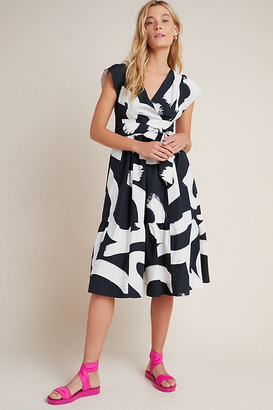 Maeve Mairead Midi Dress By in Black Size 0