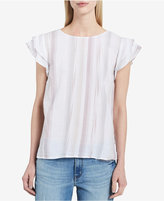 Calvin Klein Jeans Striped Tiered-Sleeve Top
