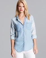 Rails Shirt - Vintage Wash Chambray Plaid Sleeve