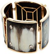 Maiyet 18K Yellow Gold, Horn & 4.00 Total Ct. Diamond Machu Picchu Stud Bracelet