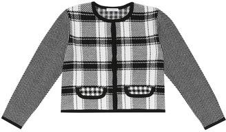 Dolce & Gabbana Checked virgin wool cardigan