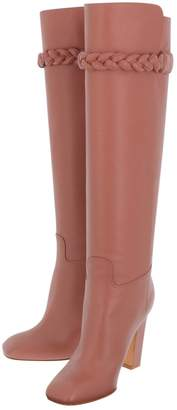 Valentino \N Pink Leather Boots