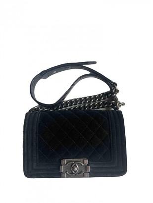 Chanel Boy Black Velvet Handbags