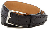 Cole Haan Feather Stitched Edge Perforated Leather Belt