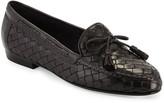 Sesto Meucci Nicole Woven Leather Loafer, Black