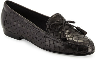 Sesto Meucci Nicole Woven Leather Loafer, Black