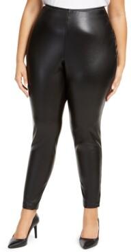 Vince Camuto Plus Size Faux-Leather Leggings