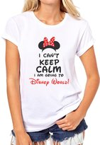 ANGRYDEER I Cant Keep Calm I Am Going To Disneyland Girls Moment Quality Womens T-Shirt