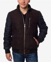 Perry Ellis Men's Micro Suede Bomber Jacket