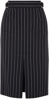 Tom Ford Pinstriped Wool Pencil Skirt