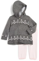 Nordstrom Infant Girl's Hooded Knit Tunic & Leggings Set