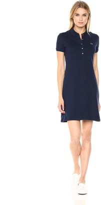 Lacoste Women's Classic Short Sleeve Stretch Mini Pique Polo Dress Ef8470
