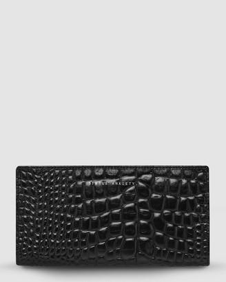 Status Anxiety In The Beginning Zip Wallet