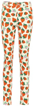 Gucci Printed high-rise skinny jeans