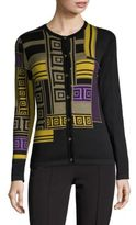 Versace Printed Stretch Silk Cardigan