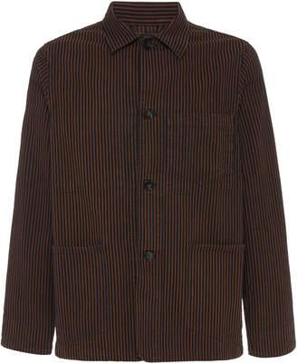 Officine Generale Chore Striped Cotton Jacket