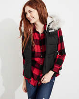 Hollister Sherpa-Lined Hooded Puffer Vest