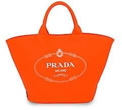 Prada Women's Large Neon Canvas Shopper