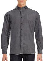 Saks Fifth Avenue Mini Check Print Button-Down Shirt