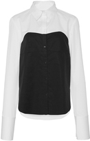 Tibi Bustier Shirting Top