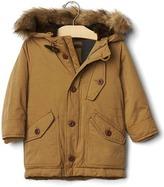 Gap Fur-trim snorkel jacket