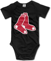 Enlove Boston Red Sox BABY Cartoon Short Sleeves Variety Baby Onesies Bodysuit For Little Kids