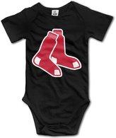 Enlove Boston Red Sox BABY Cartoon Short Sleeves Variety Baby Onesies Creeper For Babies